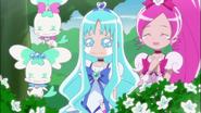 Blossom y marine viendo el reconcilio de las hermanas