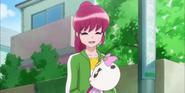 Megumi diciendo que Hime es afortunada de tener a Ribbon