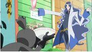 Snacky entregandole el ramen a Cobraja