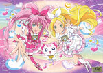 Suite Pretty Cure Official art of Melody and Rhythm
