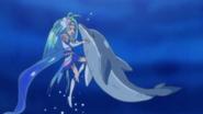 Cure Mermaid y Tina bajo el agua (GPPC16)