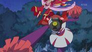 Scarlet esquibando el ataque del Zetsuborg