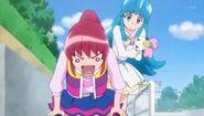 Megumi despues de intentar proteger el secreto
