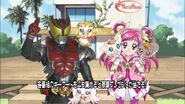 Cure Dream with Kamen Rider Kiva