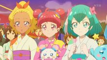 STPC25 Elena, Hikaru and Lala cheer Madoka on