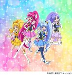 Happiness Charge Pretty Cure musical show with Cure Fortune