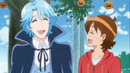 Seiji comenta sobre un apstel de calabaza gigante