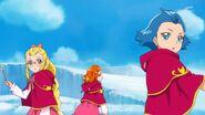 36. Kei, Jun y Emily escuchando la idea de Mirai