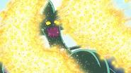 HuPC06.56-El Oshimaida es atacado por el ataque Corazón de Estrellas