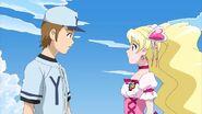 Cure Peach and Daisuke