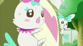 Chypre y Coffret sintiendo la presencia de Dark Pretty Cure