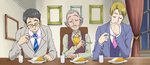 YPC519 Urara's family Washio eating curry