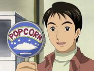 Takeshi compra palomitas en vez maiz