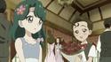 Kimimaro giving flowers to Minami