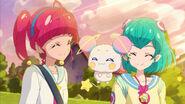 STPC4.122-Hikaru, Lala y Fuwa se sonríen