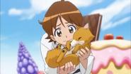 Seiji salvando al cachorro