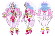 Cure Yell Cheerful concept
