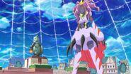 Sparda riendo mientras observa a Mirai y Riko
