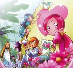 Heartcatch Pretty Cure! Official art of the girls inside the Botanical Gardens with Kaoruko
