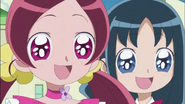 Tsubomi y Erika felices por Hayashi