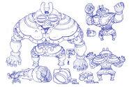 Bocetos de Dorodoron fusionado con Uzaina
