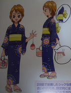 Nagisa boceto kimono