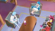 Blue explicando que las pretty cure no pueden enamorarse