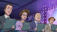 69.Los jueces del concurso valorando a Haruka