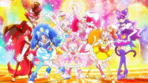 Cure La Mode Decoration Group Pose with Cure Pekorin.png