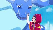 Riko explicando sobre los dragones