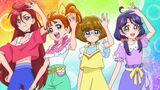 Viva! Spark! Girls hold their hands up