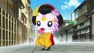 Candy vestida como geisha