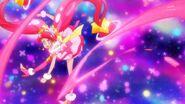 Cure Star realiza el ataque Puño Estelar de Tauro Pretty Cure
