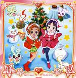 Futari wa Pretty Cure Splash Star Christmas illustration