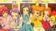 Mana, Makoto, Rikka, Alice, Aguri and Regina