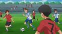 Souta plays soccer