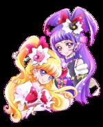 Cure Miracle y Cure Magical del Manga en la revista Kodansha