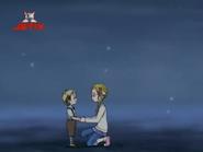 El niño y Hikari mano