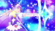 Cure Selene realizando el ataque Flecha Lunar Pretty Cure