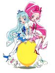 Heartcatch Pretty Cure! Official art of Blossom and Marine