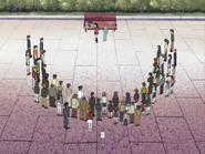 Honoka sanae rodeadas zombis