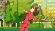 30. Haruka a punto de lanzar la pelota....