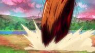 El Megabyougen intenta atacar rodando