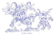 Bocetos de Karehan fusionado con un Uzaina