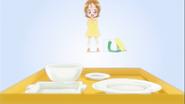 Yuko feliz de que su amr se halla comido todo