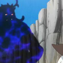 Sombra de Labut conversando con Yamoh en la playa durante el episodio 25.jpg