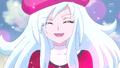 La extraña chica agradeciendo a las Pretty Cure por haberla salvado