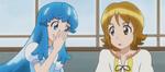 Hime whispering to Yuko
