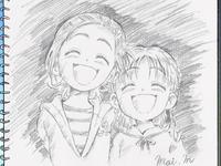 FwPCSS08 - Mai's drawing of Saki and Minori