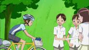 Hayashi llegando a la meta